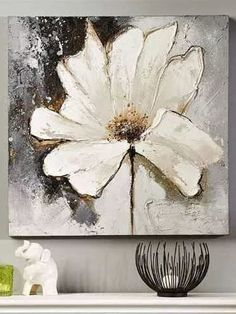 Handmade Oil Painting On Canvas Abstract Painting Amazing Abstract Paintings Picasso Modern Art Abstract Painting White Transparent Yellow Oil Paint Robert Wood Oil Painting Acrylic Flowers, Oil Painting Flowers, Oil Painting On Canvas, Painting Art, Floral Paintings, Acrylic Art, Abstract Paintings, Acrylic Painting Inspiration, Abstract Canvas