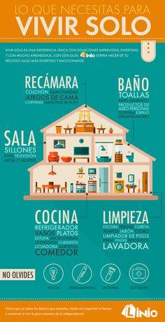 Ten en cuenta todo lo que necesitas para tu nuevo hogar.   13 Datos útiles que te servirán si quieres mudarte solo por primera vez