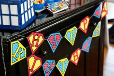 Anders Ruff Custom Designs, LLC: Vintage Comic Book Style Super Hero Birthday Party {On A Budget!!}