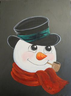 Hand Painted FROSTY Slate by gifthorseartfarm on Etsy Christmas Rock, Christmas Canvas, Christmas Signs Wood, Burlap Christmas, Christmas Paintings, Diy Christmas Ornaments, Christmas Snowman, Christmas Wreaths, Xmas