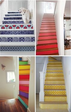 Colour staircases. Blog - High Street Home: Feature Staircases #stairs #staircases
