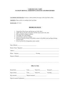 Lease non renewal letter sample bagnas letter of not for Cabin rental agreement