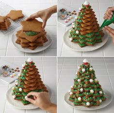 Baking gingerbread and designing it differently - 20 imaginative ideas ร . - Baking gingerbread and designing it differently – 20 imaginative ideas cookie - Grinch Christmas Decorations, Christmas Sweets, Christmas Goodies, Christmas Candy, Simple Christmas, Christmas Tree, Holiday Cakes, Holiday Treats, Holiday Recipes
