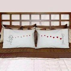 Wedding gift:Sending Kisses Pillowcases