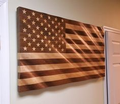 American Hardwood Flag 24 x 45 American Flag Wood, Wooden Flag, Usa Flag, Corporate Gifts, Office Decor, Woodworking Projects, Solid Wood, Hardwood, Carving