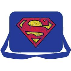 Superman Superman Messenger Bag ($25) ❤ liked on Polyvore featuring bags, messenger bags, lullabies, zip messenger bag, courier bag, zip bags, blue bag and zipper bag