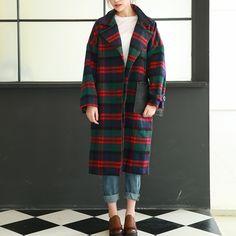 Пальто в клетку на двух пуговицах :: Op Shop!