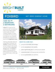Foxbird Model Affordable Net Zero Homes www.brightbuilthome.com