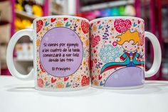 Tazas de Ceramica Principito Corazones - comprar online