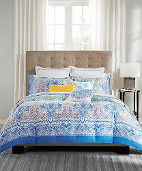 Sure To Freshen Up Any Bedroom, The Painted Paisley Bedding Collection  Features Porcelain Blues And Is Accented With Hues Of Yellow, Purple, ...