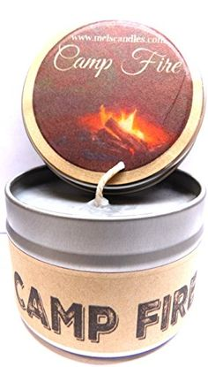 Camp Fire - 4oz All Natural Soy Candle Tin Approximate Burn Time 30  Hours