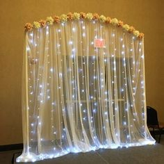 300 led 9 ft x 9 ft Window Curtain Lights String Fairy Light Wedding Party Home Garden Diy Diwali Decorations, Wedding Stage Decorations, Backdrop Decorations, Light Decorations, Garden Decorations, Housewarming Decorations, Backdrops, Ganpati Decoration Design, Mandir Decoration