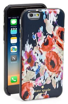 Bold watercolor blooms splash across this hard-shell case by Kate Spade that would look adorable on the iPhone.