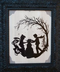 Winter - Four Seasons Children Silhouette Prints By Kijsa. $16.00, via Etsy.