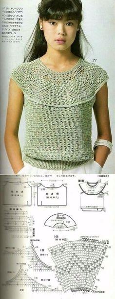 Fabulous Crochet a Little Black Crochet Dress Ideas. Georgeous Crochet a Little Black Crochet Dress Ideas. Crochet Tank Tops, Crochet Shirt, Filet Crochet, Crochet Stitches, Crochet Patterns, Black Crochet Dress, Crochet Lace, Mode Crochet, Knitwear Fashion