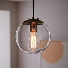 Very close to allocation for pendants and pendant shades (this comes with shade) Globe Pendant - Clear #westelm