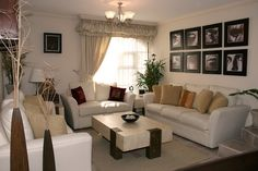 Feng Shui Living room.  The most important piece of furniture in a feng shui living room is the sofa.