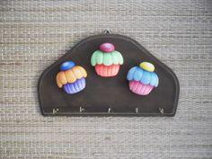 porta chaves cupckaque | Ketlin Rocha Hoffmann | Elo7