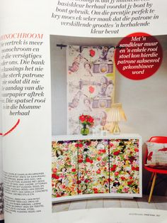 This is how we wrap it up, cupboards wrapped using Mitat designs featured in Idea's magazine. Mitat fabric hangs in the background.