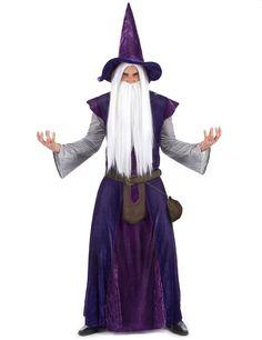 Este completo disfraz de brujo es perfecto para invocar los espíritus la noche de Halloween.