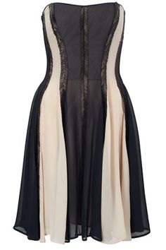 ARROW BEADING STRAPLESS DRESS