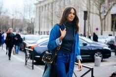Cindy Bruna Street Style from Paris Fashion Week, March 2017
