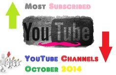 Top 10 Most Subscribed YouTube Channels of All Time - 19 October 2014