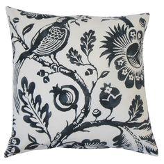 Indivar Floral Cotton Throw Pillow