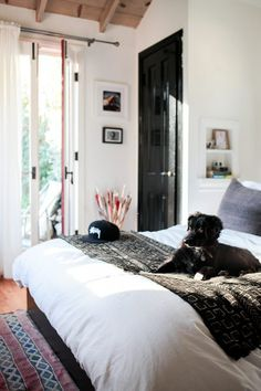 Hommemaker | Hommemaking with Orlando Soria! - love the white walls and black door