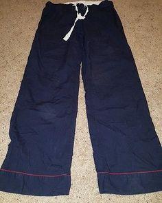 J.Crew Men's Cotton Navy Pajama PJ Pants Sleep Wear Size Small