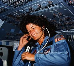 Sally Ride, the first America woman in space