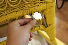 Full wicker repair tutorial -- The after is so great!!!!!!! #wicker #repair #beforeandafter