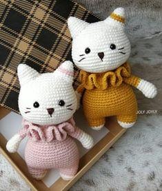 Newborn Crochet Patterns, Crochet Cat Pattern, Easy Crochet Patterns, Crochet Patterns Amigurumi, Gato Crochet, Crochet Cat Toys, Crochet Animals, Cat Amigurumi, Yarn Projects