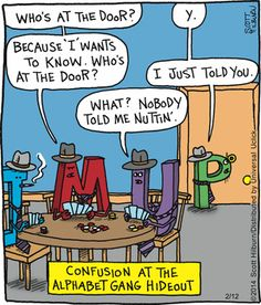 So much confusion...   The Argyle Sweater on GoComics.com #humor #comics