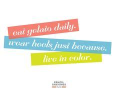 Eat Gelato, wear hee