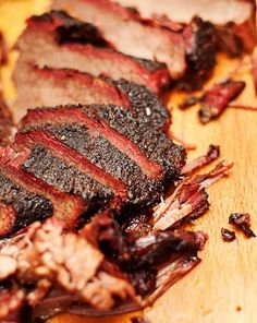 Smok'n Good Texas Brisket.The traditional family recipe oh hot spicy meat Grilling Recipes, Meat Recipes, Cooking Recipes, Smoker Recipes, Barbecue Recipes, Beef Dishes, Food Dishes, Texas Brisket, Bbq Brisket
