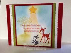 stampin up forest friends card | ... Stampin' Up, Christmas card, Forest Friends, Christmas Messages