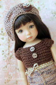 "R&M DOLLFASHION handknit set for Effner 13"" IPLEHOUSE KID BJD Betsy McCall dolls"