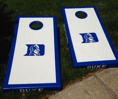 Hand Painted Duke Cornhole boards #corn #hole #duke