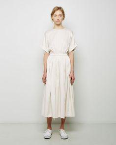Black Crane | Pleated Dress | La Garçonne