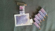 Feeën stof zelf maken. Wat leuke glitterkleur sterretjes en kleine flesjes #kinderfeest elfen feeën sprookjes thema
