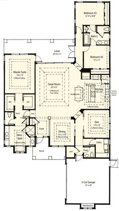 Wonderful floor plan for a 3 bedroom, 2 1/2 bath rancher.