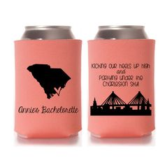 Charleston Bachelorette Party Koozies Charleston by yourethatgirldesigns on etsy, Charleston, South Carolina Bachelorette Party Themes, Bachelorette Party Favors, Bachelorette Weekend, Inexpensive Wedding Invitations, Wedding Koozies, Charleston, Courthouse Wedding, South Carolina, Monitor