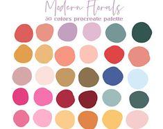 Hex Color Palette, Colour Schemes, Color Combos, Modern Color Palette, Bright Colour Palette, Spring Color Palette, Modern Colors, Bright Colors, Pantone Colour Palettes