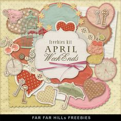 Far Far Hill - Free database of digital illustrations and papers: New Freebies Kit of Labels - April Weekend