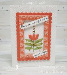 Carussell Crafts: Colour Creations Week 9 - Calypso Coral Fun Fold Cards, Folded Cards, Edge Stitch, I Card, Stampin Up, Card Stock, Christmas Cards, Coral, Paper Crafts