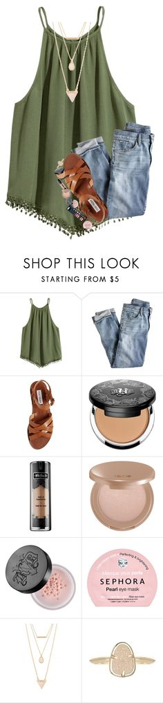 """""""i don't know how to be confident"""" by lindsaygreys ❤ liked on Polyvore featuring J.Crew, Steve Madden, Kat Von D, tarte, Sephora Collection, Forever 21 and Kendra Scott"""