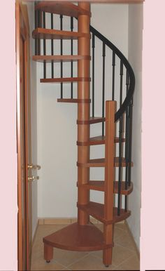 small spiral stairs. Might be the perfect size for my attic.