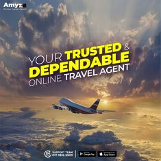 Let yourself have a safe, hassle-free and reliable online Air Ticket booking experience with Amy - The country's most trusted & dependable Online Travel Agent. ✈️  'Amy' provides all route international and domestic Air Ticketing solution anytime from any place with 24 hours non-stop customer support. Download Amy app from your Android Play Store/iOS App Store or visit our website today!  #AMY #OnlineTravelAgent #BookAirTicketOnline #AirTicket #BestFare #OneStopSolution #FlightTicket #OnlineTrav Cheap Flight Deals, Cheap Flight Tickets, Air Ticket Booking, Air Tickets, Online Air Ticket, International Flight Tickets, Online Travel Agent, Cheap Airlines, Cheap Flights