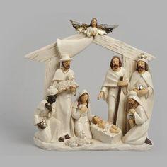 Crèche de Noël TERRE CUITE 10 santons - Crèches avec santons : Izaneo.com